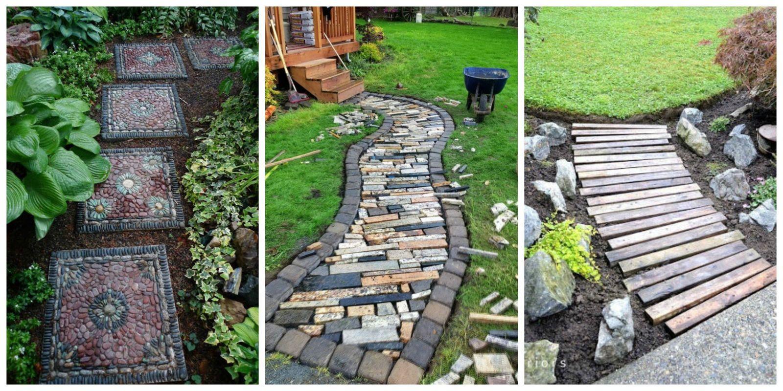 10+ DIY Garden Path Ideas - How to Make a Garden Walkway on Diy Back Garden Ideas  id=69589