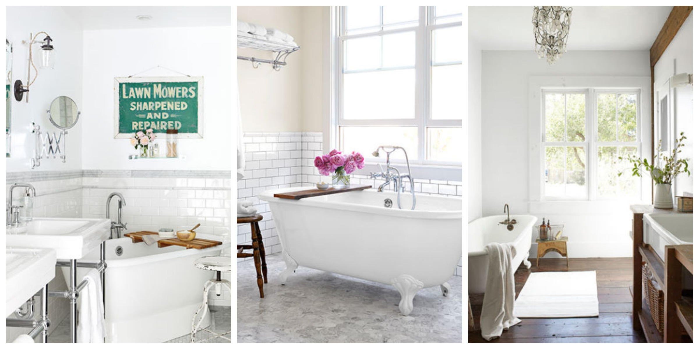 30 White Bathroom Ideas - Decorating with White for Bathrooms on White Bathroom Design Ideas  id=56357