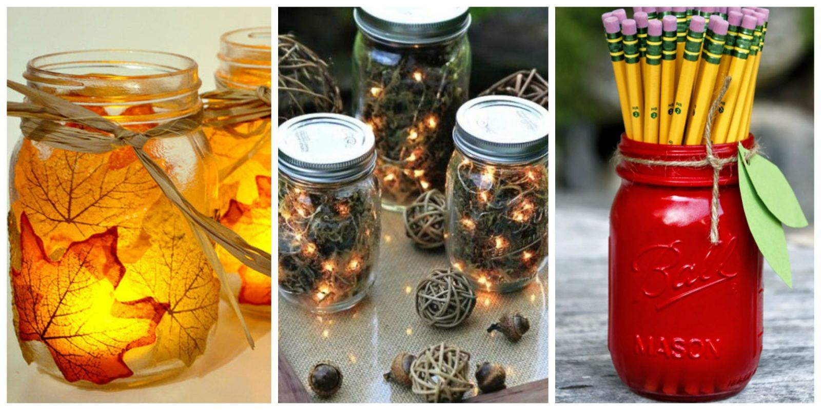 Autumn DIY Ideas With Mason Jars