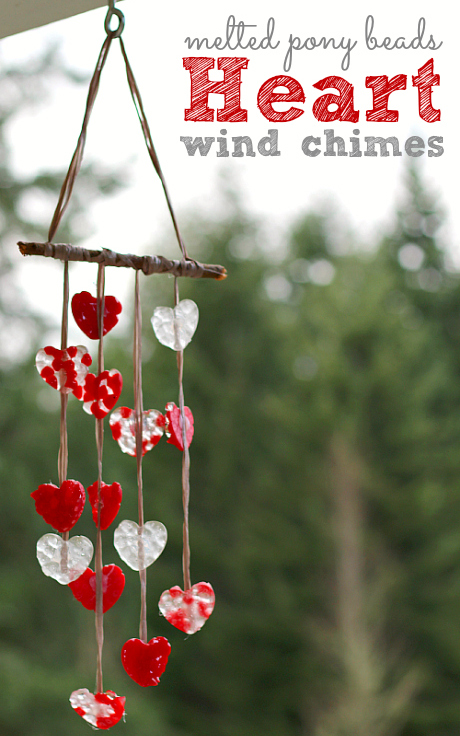 Hung outside, this craft will create a soft melody just outside your kitchen, perfect for setting the mood for a Valentine's Day brunch. Get the tutorial at No Time For Flash Cards.