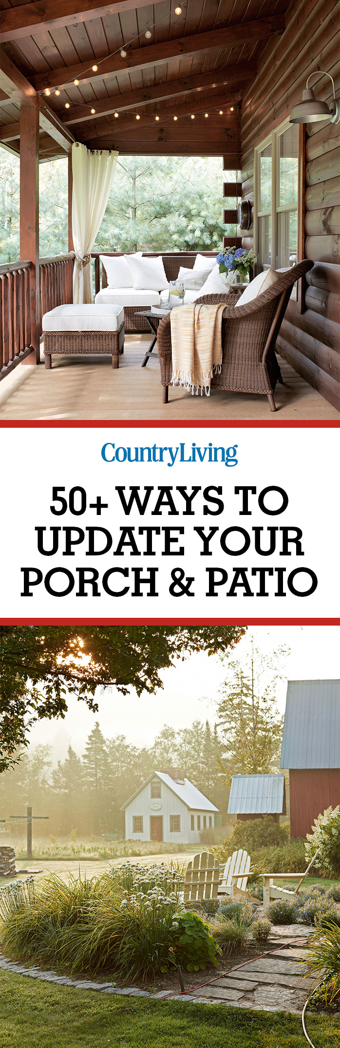 65+ Best Patio Designs for 2017 - Ideas for Front Porch ... on Country Patio Ideas id=89093