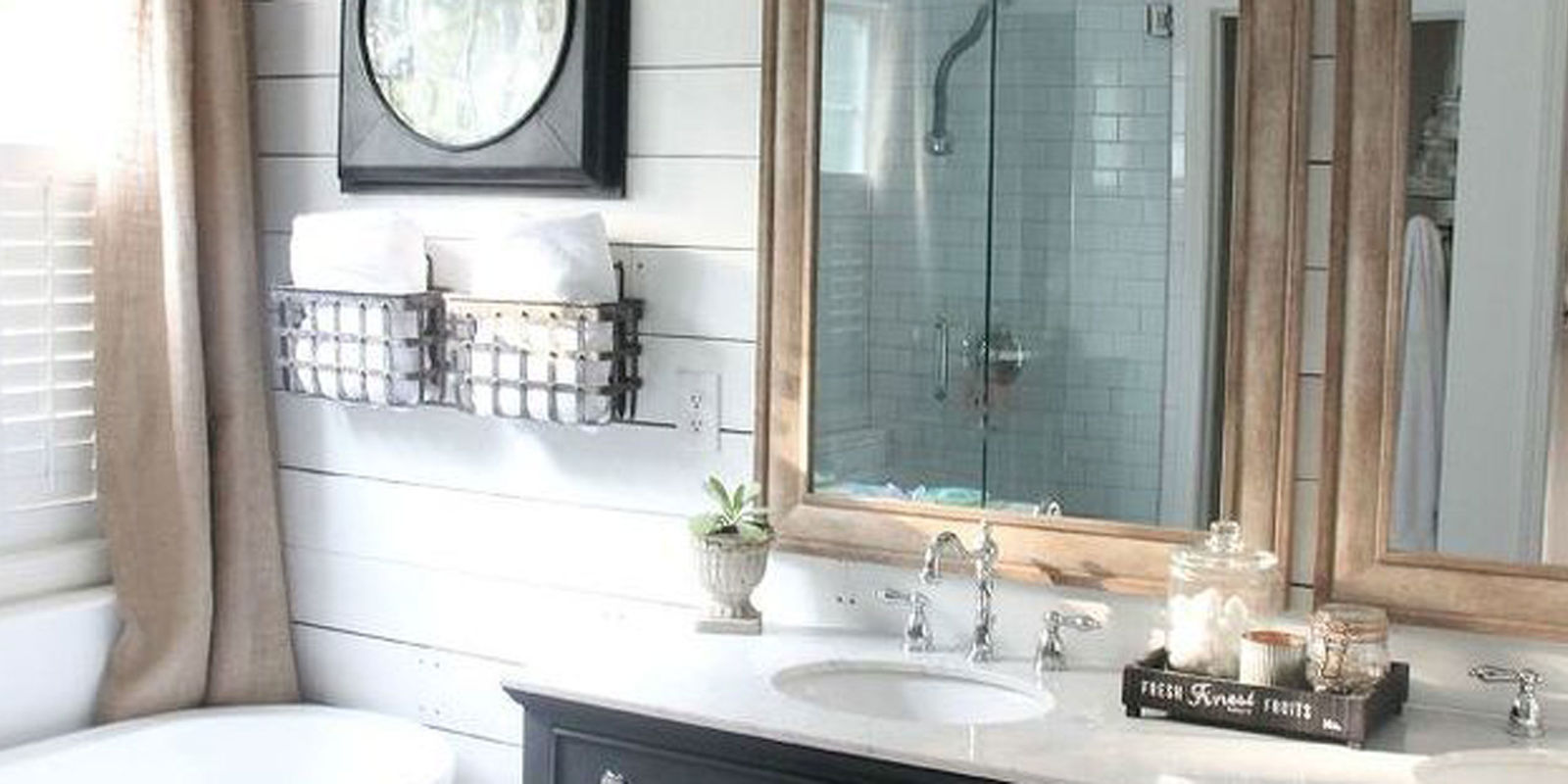 Farmhouse Bathroom Makeover - Rustic Bathroom Remodel on Rustic Farmhouse Bathroom  id=71670