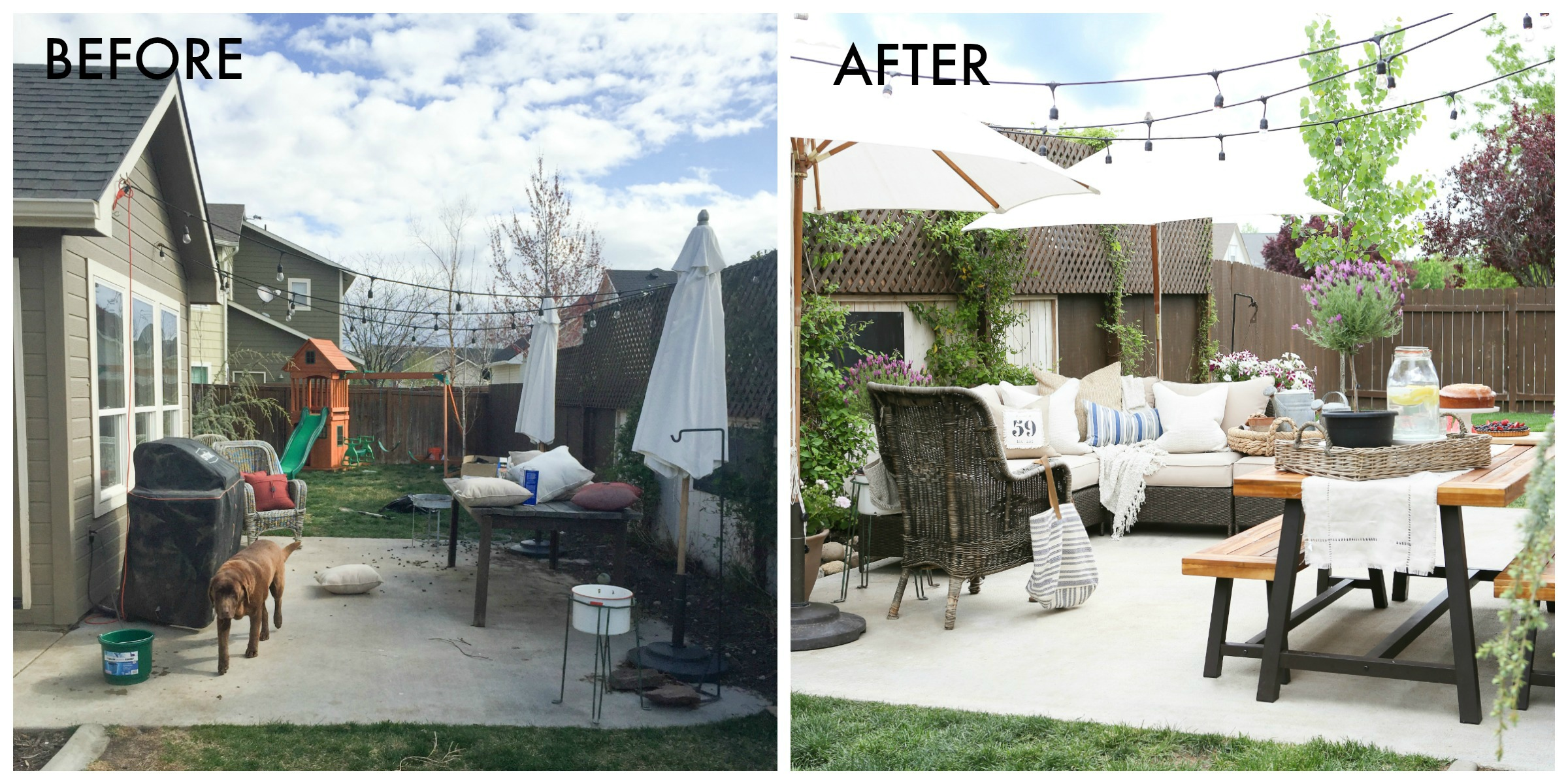 Patio Makeover Ideas — How to Update Your Patio For Summer on Backyard Patio Makeover id=15620