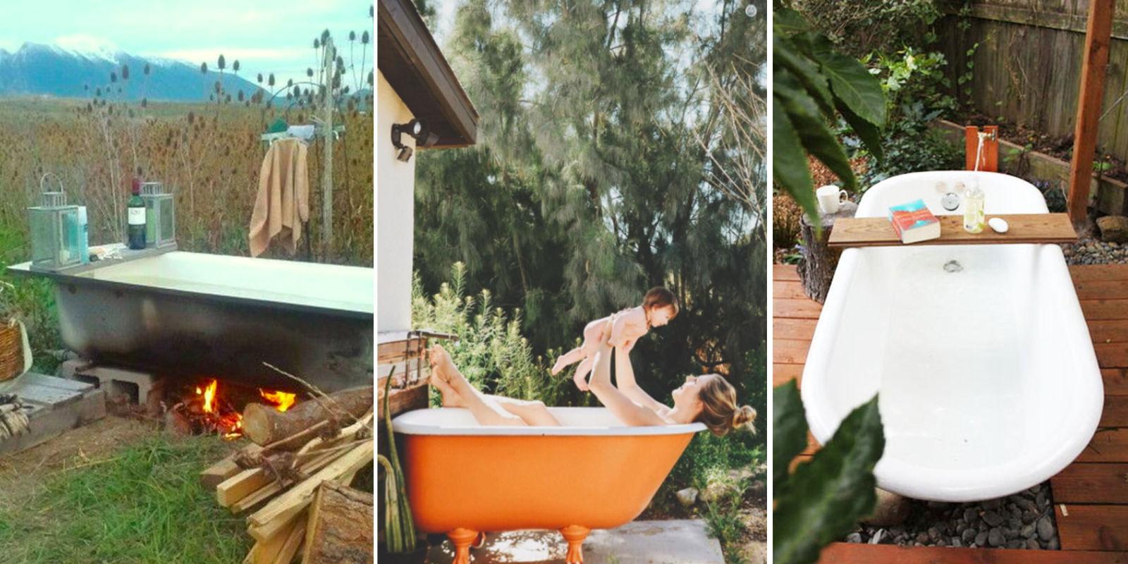 Backyard Bathtubs for Soaking Up the Great Outdoors ... on Backyard Bathroom Ideas  id=43105