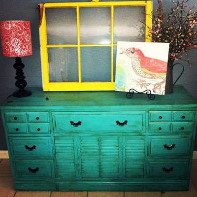 Bold Color Painted Furniture Flea Market Haul