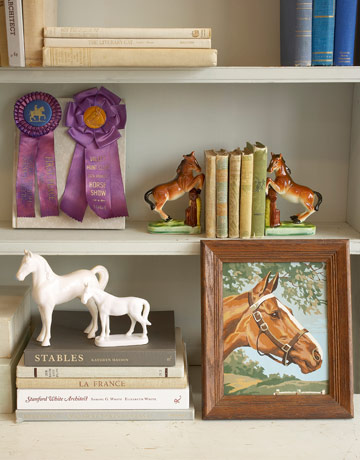 vintage horse room decor - horse decorating for the home