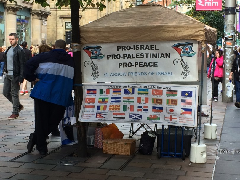 The Battle for Buchanan Street – Friends of Israel and the Palestinian Human Rights group protest on Glasgow's city centre