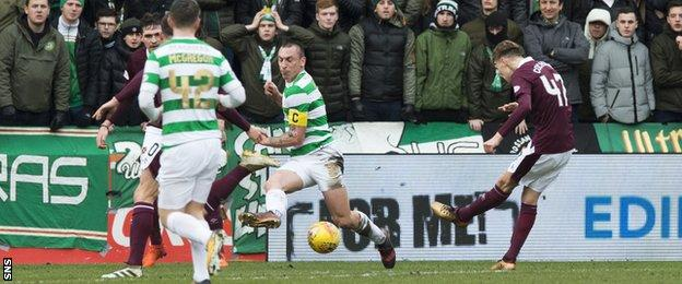 Hearts prevent Celtic's incredible 69 game unbeaten domestic run from continuing