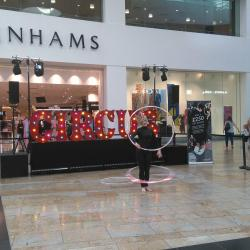 Sprits were high at Silverburn's circus themed shopping event