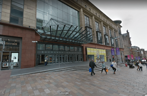 Man dies after falling from shopping centre in Glasgow