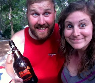 crazy eyes for refreshing beer in 95 degrees and 100% humidity