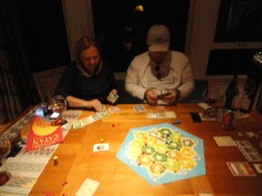 playing a vicious game of Settlers of Catan