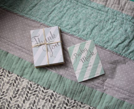 Thank You cards and invitations i made for the shower