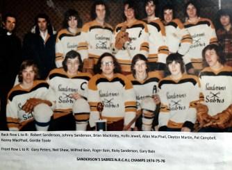 Sanderson's Sabres 1974-76