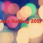 Winter Sailing 2017-18