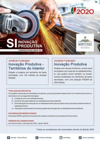Inovação Produtiva – Candidaturas abertas até 20 de setembro 2021