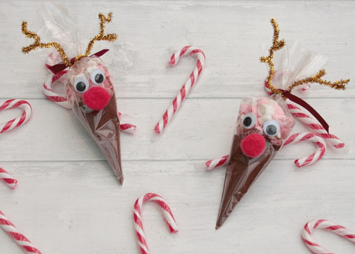 eindeer hot chocolate cones