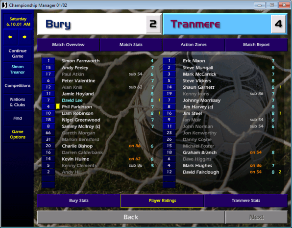 Bury Tranmere