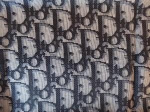 Carré de soie monogrammé Christian Dior Bleu