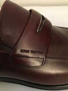 Mocassins Louis Vuitton homme cuir marron