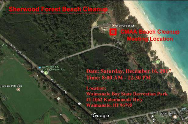 Sherwood Forest Beach Cleanup Map1