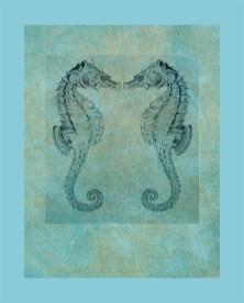 Seahorse Twins_artprint