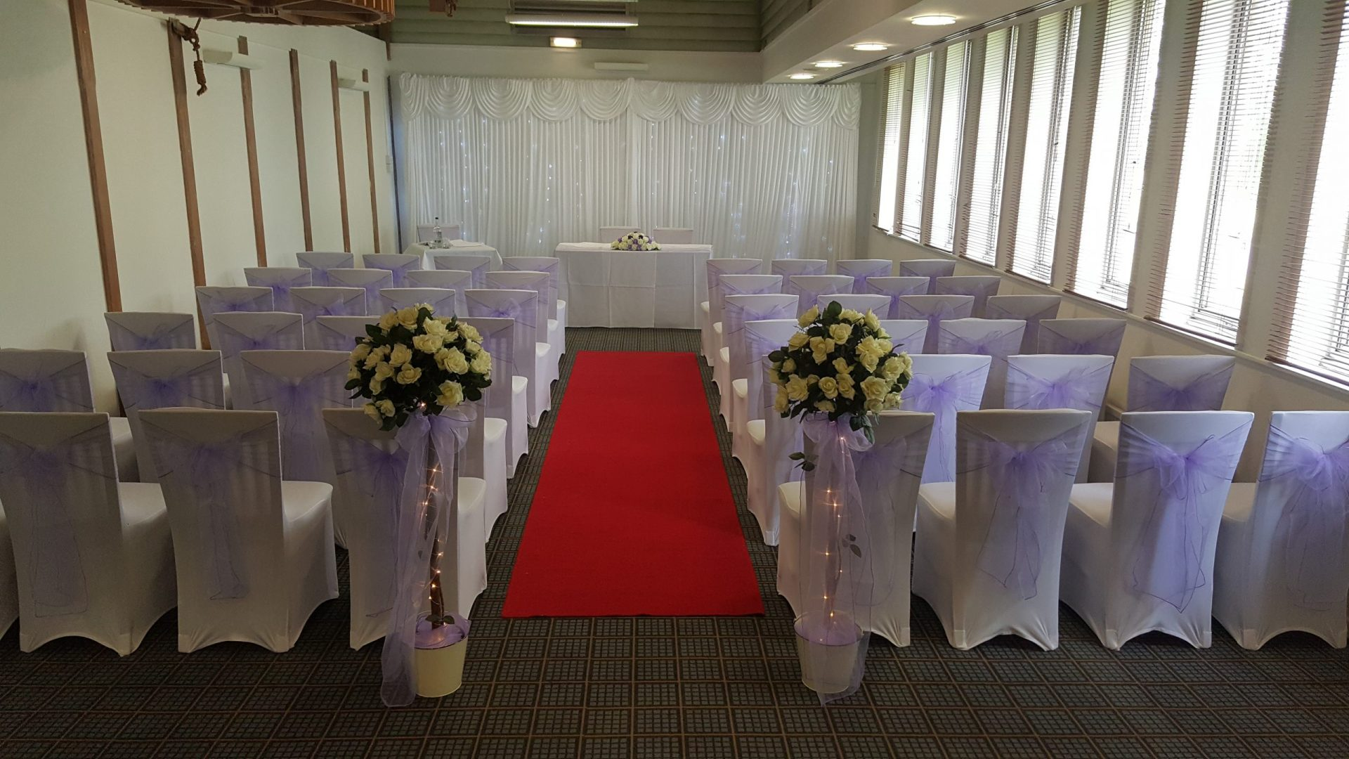 Lilac Themed wedding at Holiday Inn