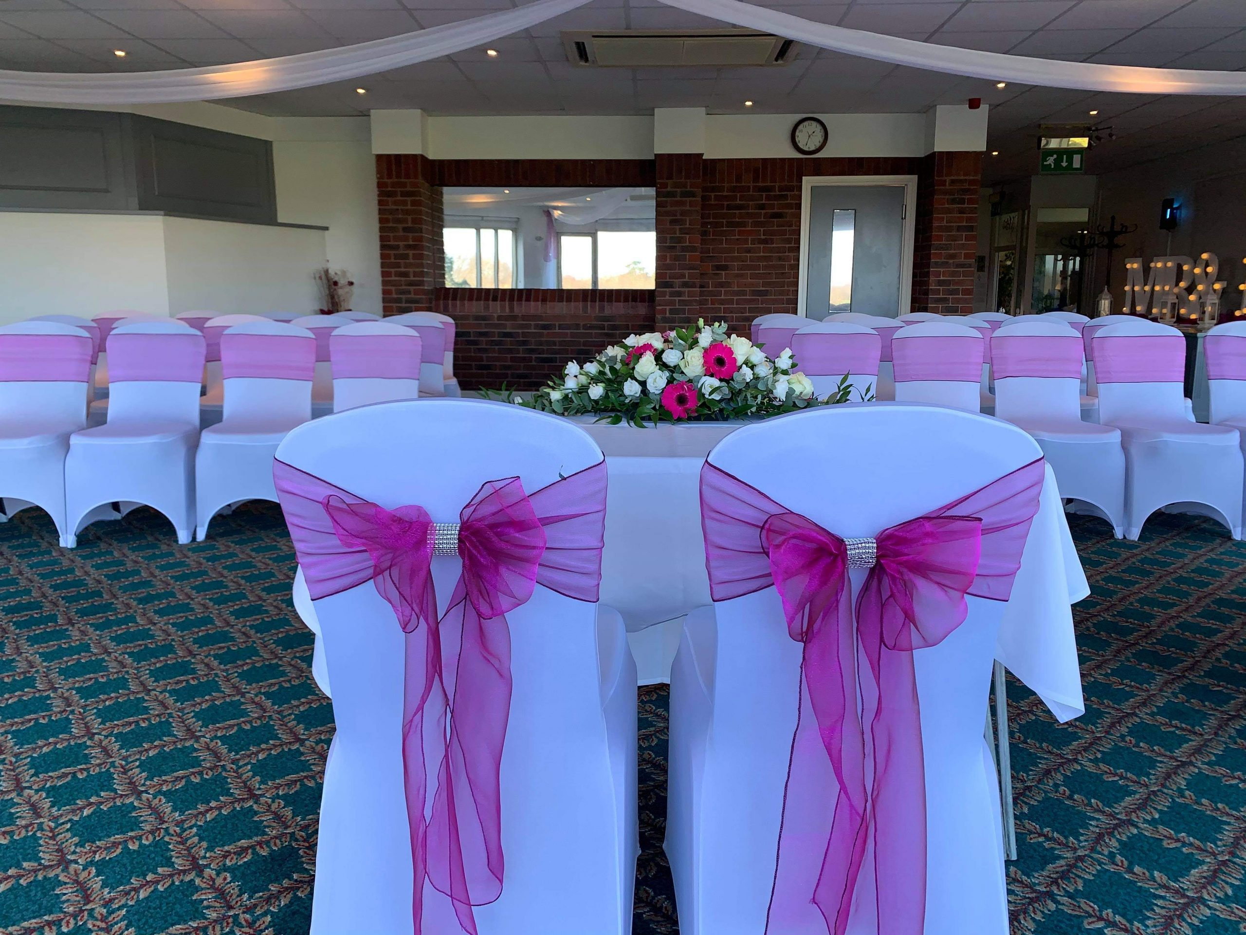 Pink sashes with Bling and Matching Long and Low