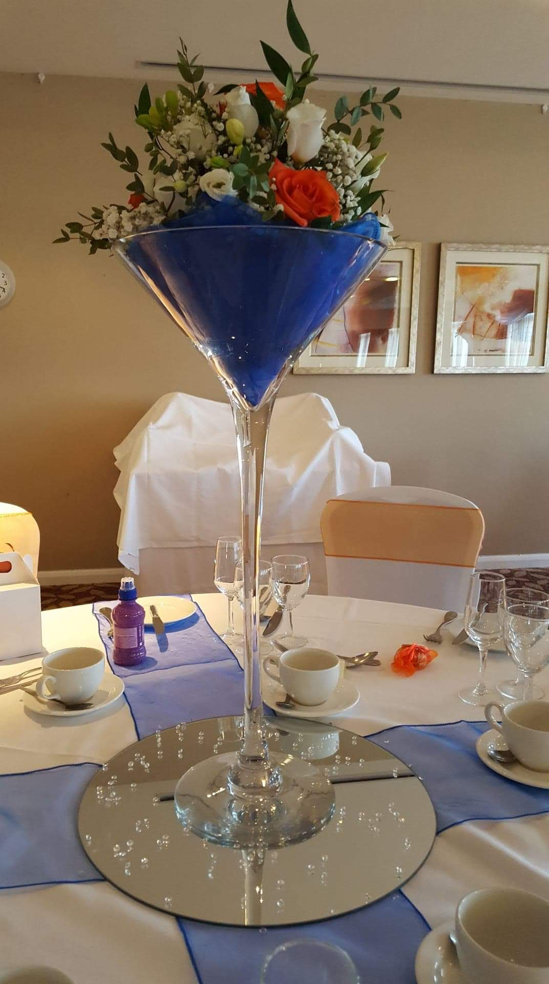 Martini Glass Table Centers