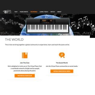 Online piano app web design, Virtual Piano