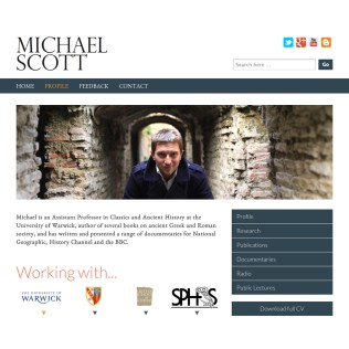 Web Development for TV Personality and Academic, Michael Scott