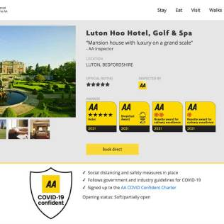 Hotel Profile, Rated Trips Website, The AA, CMAGICS