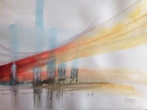 Artword - colourful cityscape.