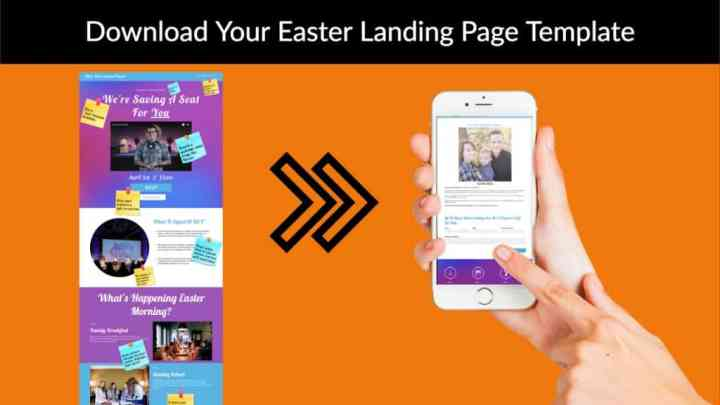 download easter landing page template
