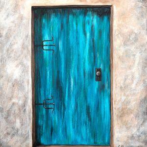 Teal-Door