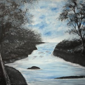 Blue-Acrylic-Painting-by-Chelsey-Marchand