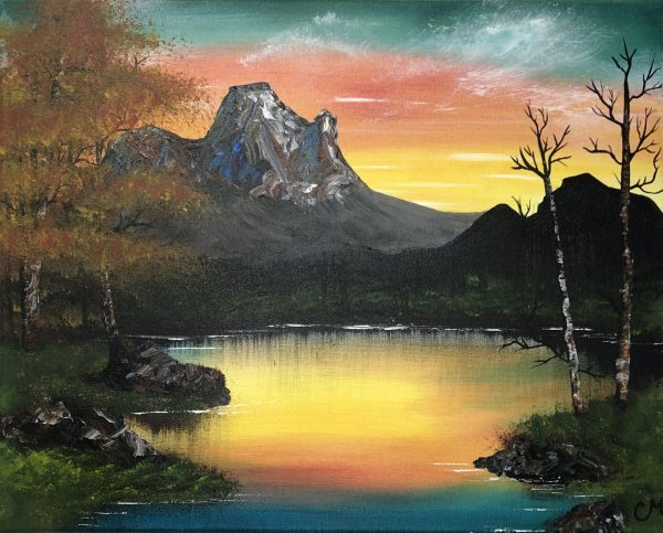 Fall-Hike-Acrylic-Painting-by-Chelsey-Marchand