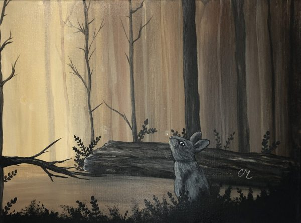 Fireflies-Acrylic-Painting-by-Chelsey-Marchand