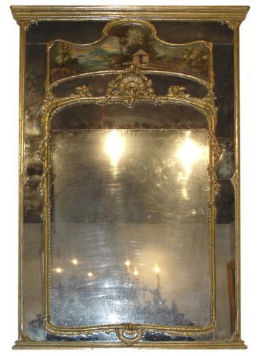 An 18th Century French Louis XV Style Silver Gilt Trumeau