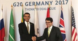 Dr. Alshammari at the G20 Think Summit (T20), Berlin, 2017