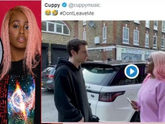 """This Life No Balance At All"" Fan Reacts As DJ Cuppy Joins The #dontleaveme Challenge Using A Range Rover"