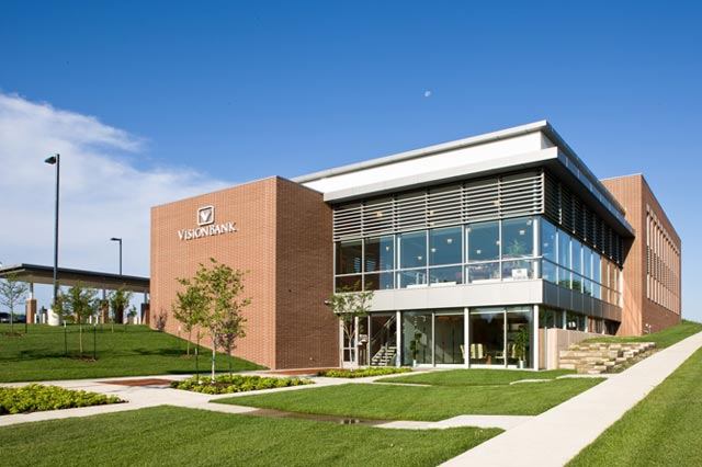 Vision Bank West Des Moines Exterior Ne Cmba Architects