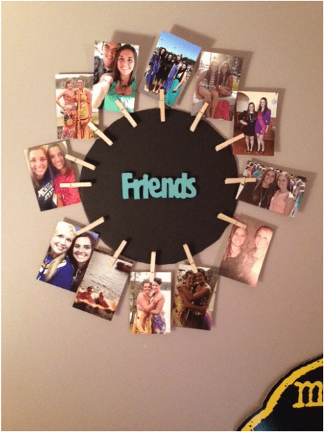 DIY Clothespin Picture Frame Crumbs Amp Crafts