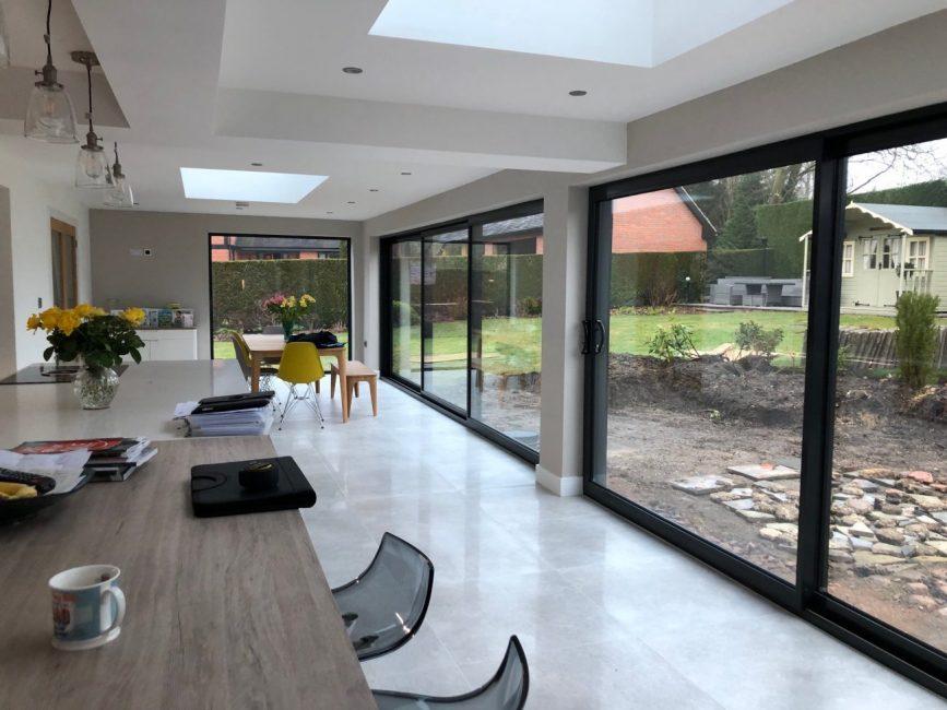 large glass sliding doors in derbyshire