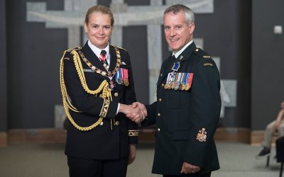 Governor General presents CWO (retired) Kelly Parent with Order of Military Merit
