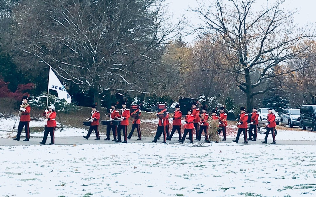 Toronto Signals Band Leads 32 Sig Regt to their Annual Remembrance Parade at York Cemetary in Toronto