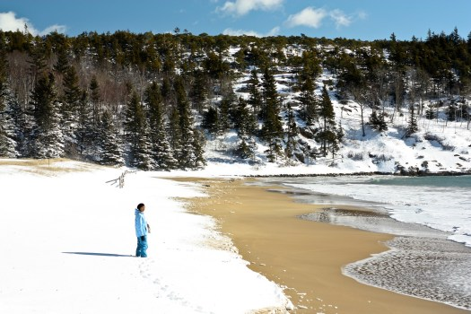 Acadia in February. Sand Beach. cmckane