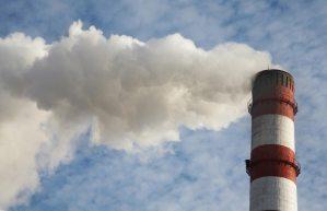 Billowing smoke stack
