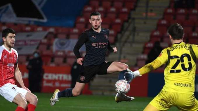 Phil Foden Manchester City Cheltenham FA Cup