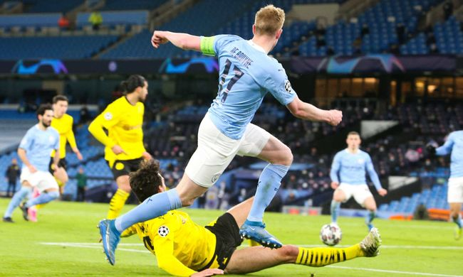 Kevin De Bruyne will be instrumental to Manchester City's hopes against Dortmund tonight